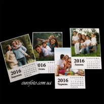 Фотомагнит  календарь 12шт.